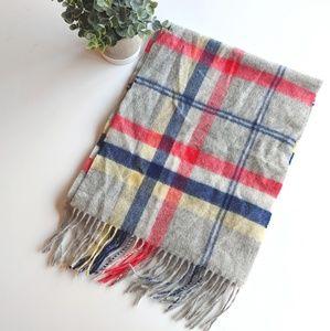 ‼️ 100% Cashmere plaid scarf